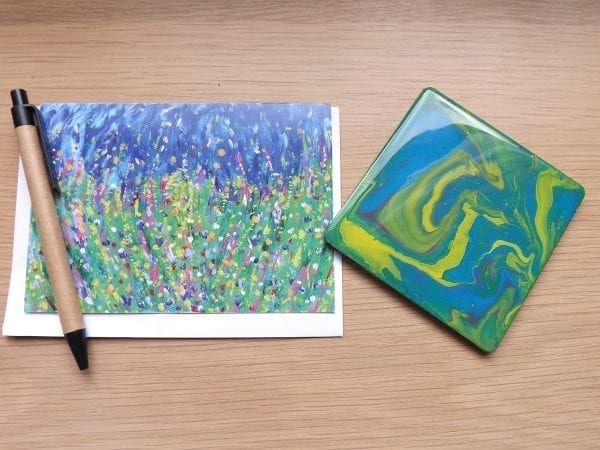 Walking in a Field of Flowers / with coaster