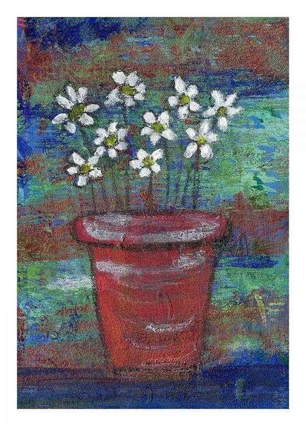 Daisy Pot Print